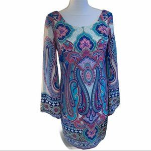 Pink Owl Hello Miss Paisley Dress size S NWT